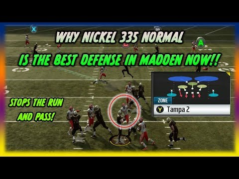 This is the New Best Defense in Madden!! Stops the Run and Pass!