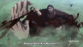 Beast Titan Was Scared To See Levis Power Levi Vs Beast Titan Vs Armin Vs Colossal Titan