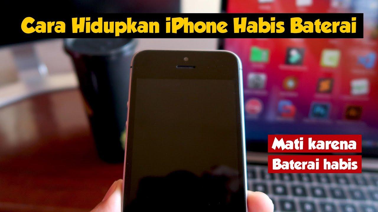 Cara Menghidupkan iPhone Yang Habis Baterai
