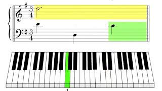 Easy Piano Tutorial - Minuet In G (Johann Sebastian Bach)