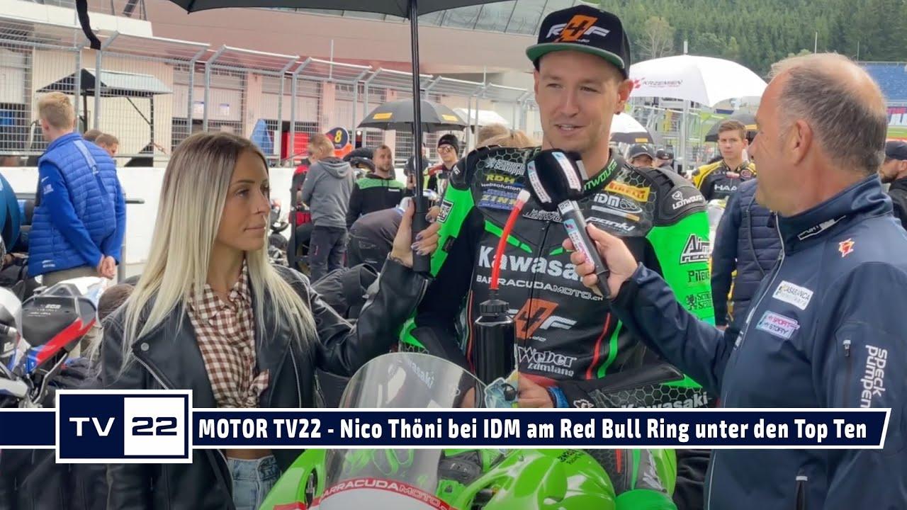 MOTOR TV22: Motorrad Rennfahrer Nico Thöni beim Heimrennen am Red Bull Ring in beiden Rennen Top Ten