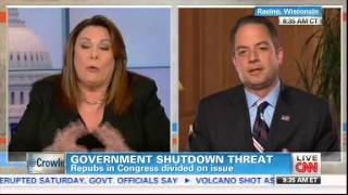 Reince Priebus and Candy Crowley Of