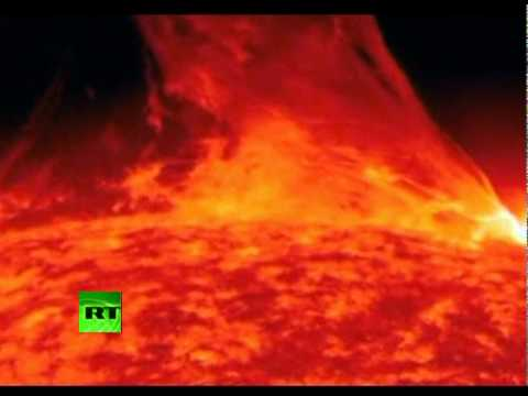 Amazing video of massive solar flare erupting from surface of Sun