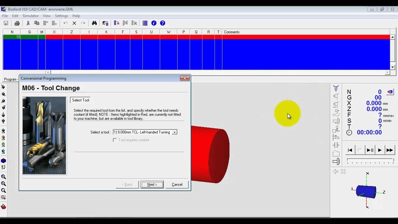 Boxford Cadcam Design Tools Software Lathe Conversational And Manual Cnc Programming Youtube