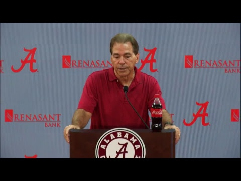 Watch Coach Saban's Monday Press Conference Live presented by Cadence Bank