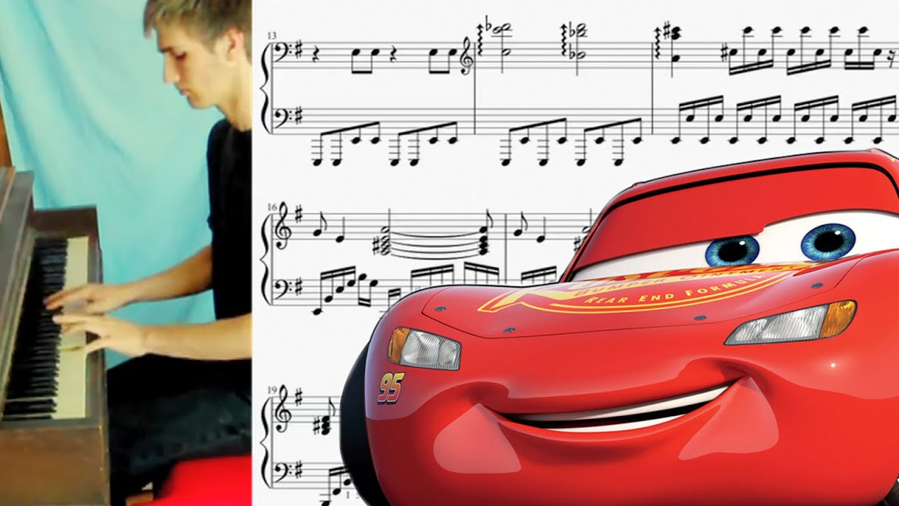 cars 2 main theme piano cover with sheet music download youtube. Black Bedroom Furniture Sets. Home Design Ideas