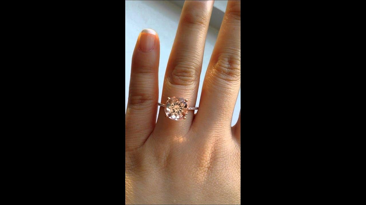 Rosados Box Eloise Morganite Engagement Ring  YouTube