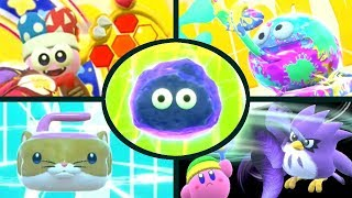 Kirby Star Allies - Marx, Gooey, Rick, Coo & Kine Friend Abilities