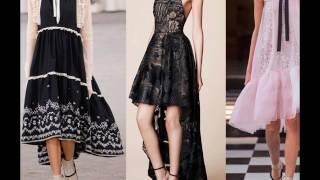 видео Асимметричная юбка: спереди короткие, сзади длинные, образ с фото