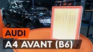 Výmena Vzduchový filter AUDI A4 Avant (8E5, B6) - video inštruktáž