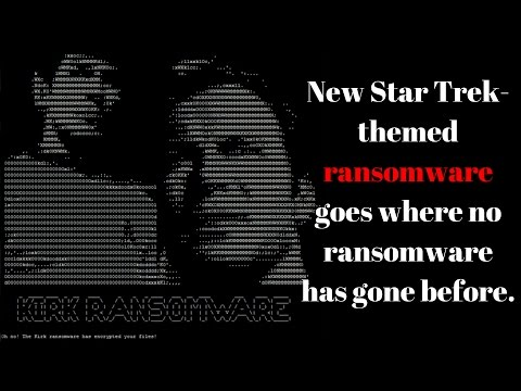 Kirk Ransomware has encrypted your files