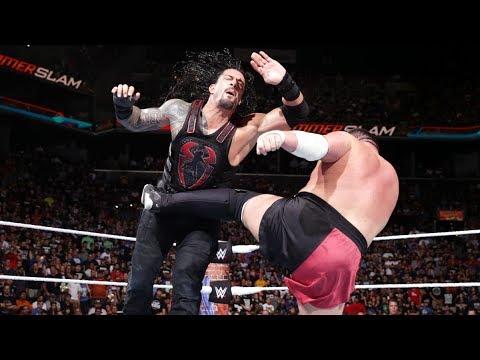 Full Match - Brock Lesnar vs Roman Reigns vs Samoa Joe vs Braun Strowman - WWE Sumerslam 2017