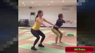 Yoga Training Girls Fitness ।। Hot Yoga Challenge