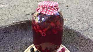 Компот из малины и ежевики на зиму. Делаем быстро с сохранением всех витамин!