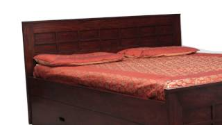 Wooden Bed With 2 Storage Drawers | Customise Your Bedroom Furniture
