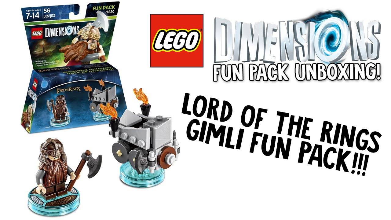 LEGO Fun Pack Dimensions Lord of the Rings Gimli /& Axe Chariot SET 71220 New