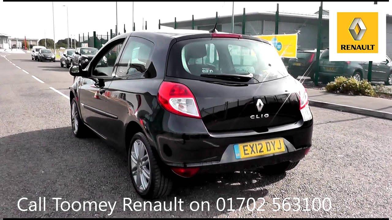 2012 Renault Clio Dynamique Tom Tom 1.2l Black Metallic ...