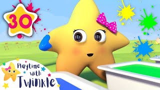 Twinkle Paints Colors | +More Kids Songs | Nursery Rhymes | Learn With Twinkle | Little Baby Bum
