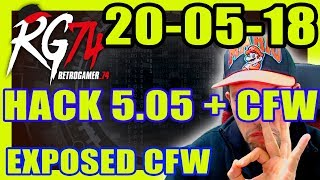 PS4 Hack 5.05 - 20-05-2018 - 20 Mayo 2018 - CFW Exposed Firmware - RetroGamer Live