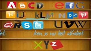 Leer het ABC Alfabet met internetmerken 2013