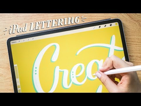 Lettering on the iPad ✍🏼| Abbey Sy