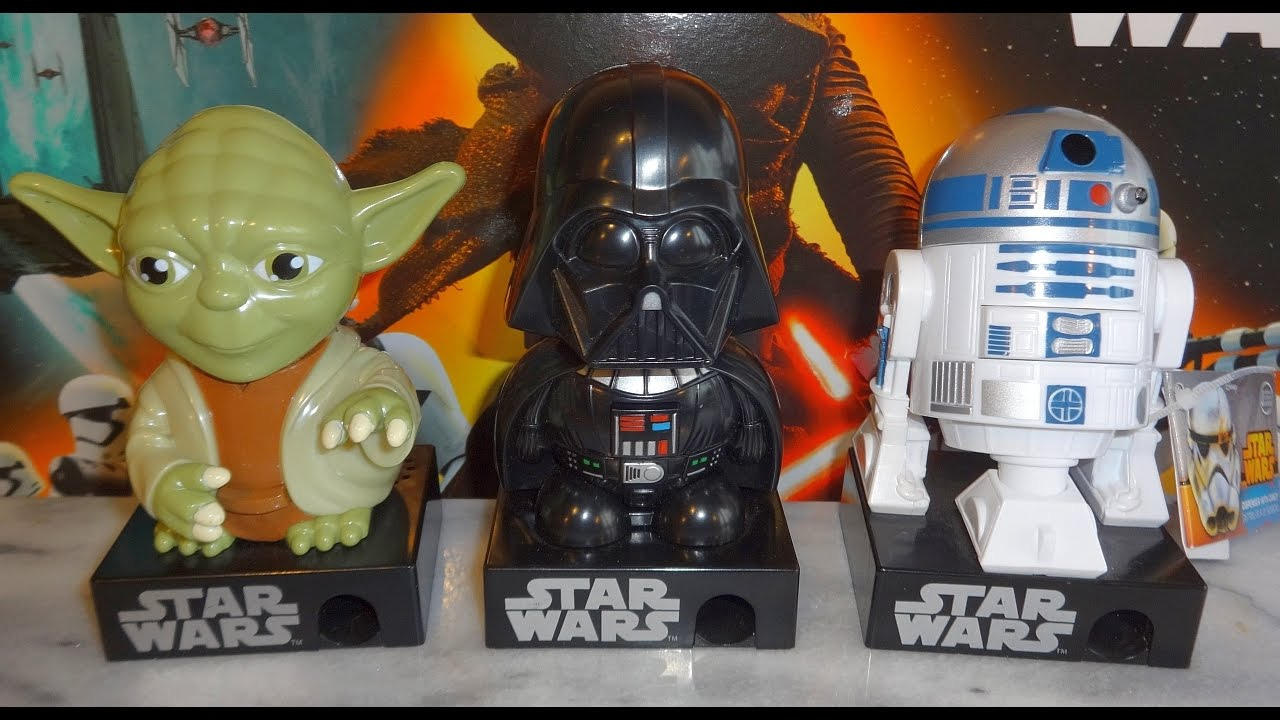 Star Wars Darth Vader Yoda R2 D2 Candy Dispenser With