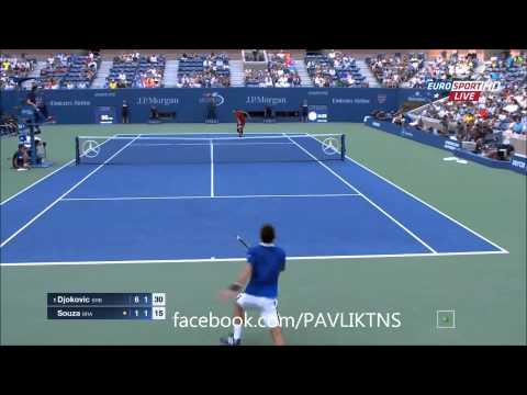 Novak Djokovic vs Joao Souza Highlights - US OPEN 2015