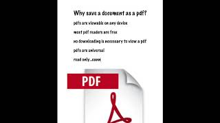 Saving Document as PDF