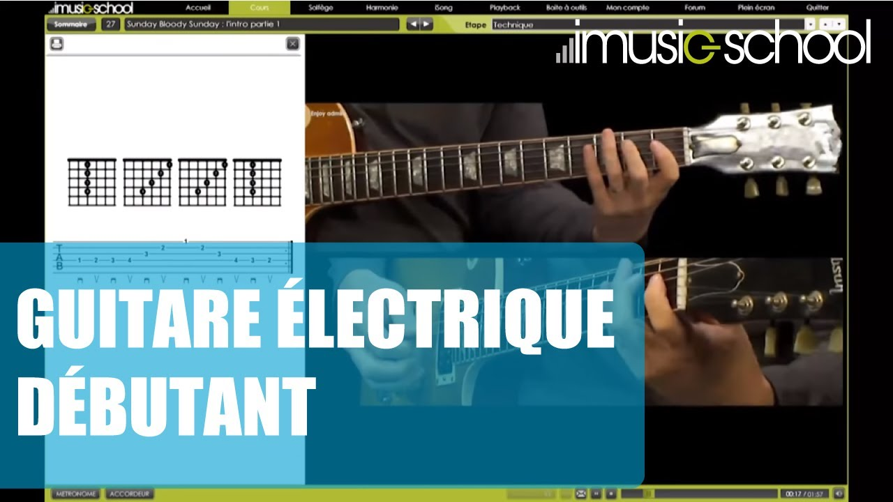 cours de guitare lectrique d butant youtube. Black Bedroom Furniture Sets. Home Design Ideas
