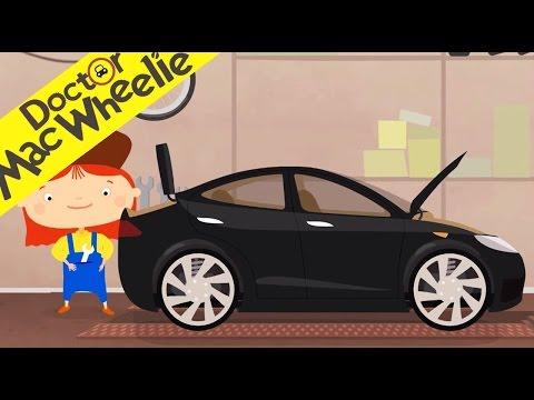 La Voiture Electrique - Réparation d'une voiture électrique dans le garage Dr McWheelie