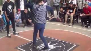 Bboy Karan vs Bgirl 1 on 1 Toprock Bboying Battle Nepal 2014