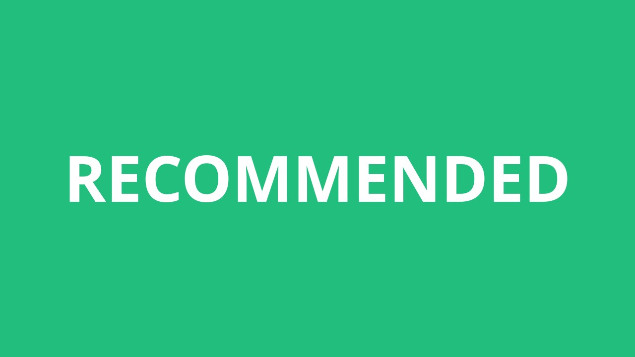 How To Pronounce Recommended - Pronunciation Academy