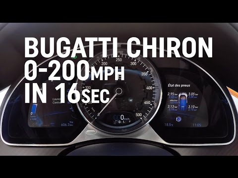 Bugatti Chiron: 0-200mph in 16 seconds!