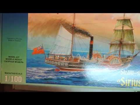 """Обзор набора для сборки: 9013 Звезда 1/100 Колесный пароход """"Сириус"""""""