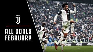 Cristiano Ronaldo de Ligt Dybala Cuadrado Ramsey ALL JUVENTUS GOALS FROM FEBRUARY