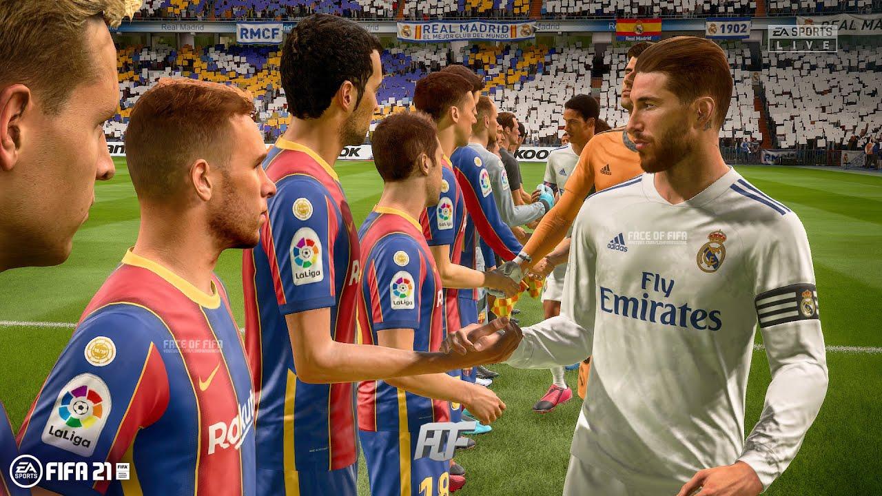 Fifa 21 Gameplay Fc Barcelona V Real Madrid Youtube