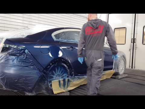 Jaguar XF   painting with spies hecker
