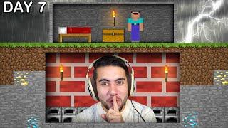 Surviving 10 Days Under Someones Base In Minecraft