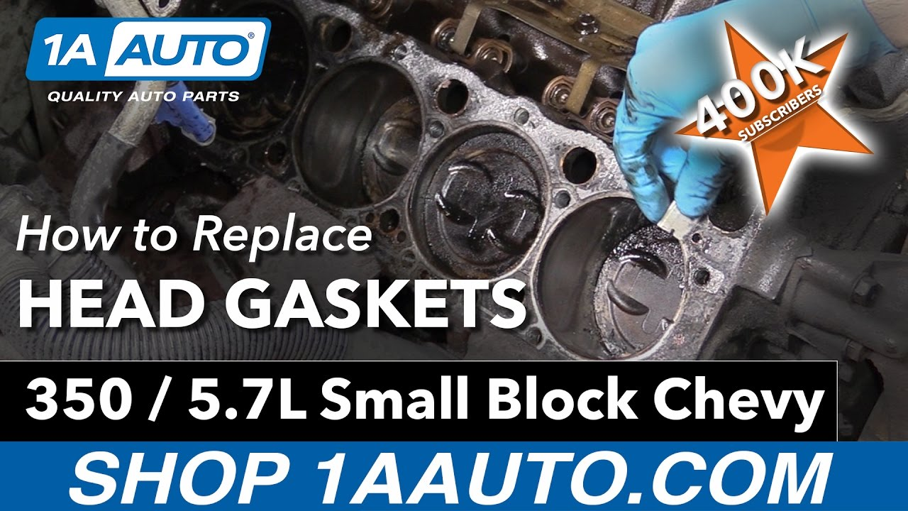 hight resolution of how to replace head gaskets on a 350 5 7l small block chevy engine
