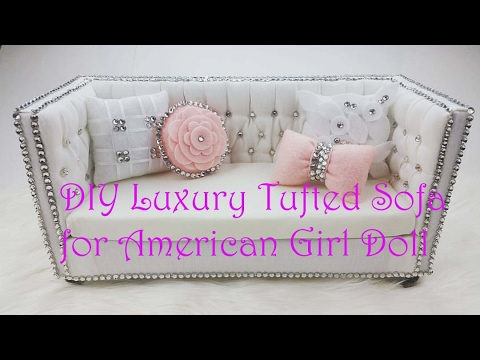 18 Doll Sofa Diy Twill Fabric Sectional American Girl How To Make Couch