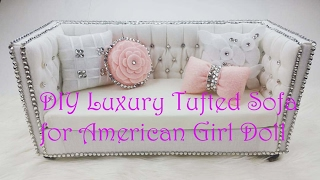 DIY AMERICAN GIRL DOLL SOFA/ How to Make American Girl Doll Couch