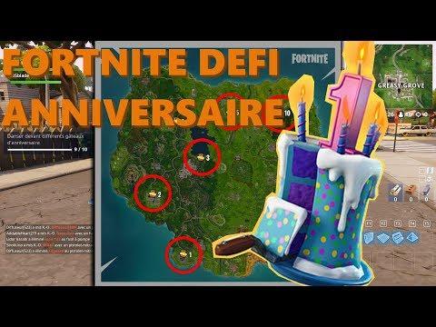 Fortnite Defi Gateaux Anniversaire Youtube