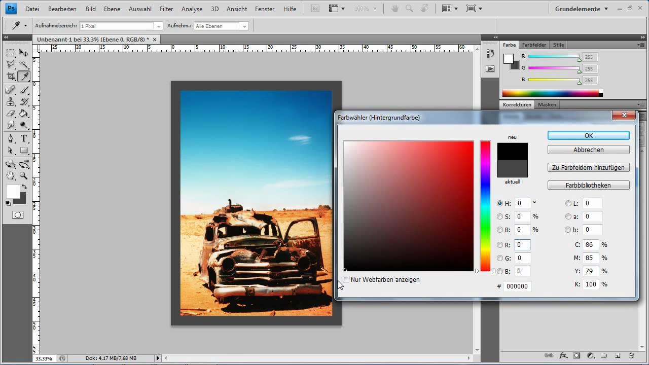 Photoshop CS4 - Rahmen aus Alpha-Kanal erstellen - YouTube
