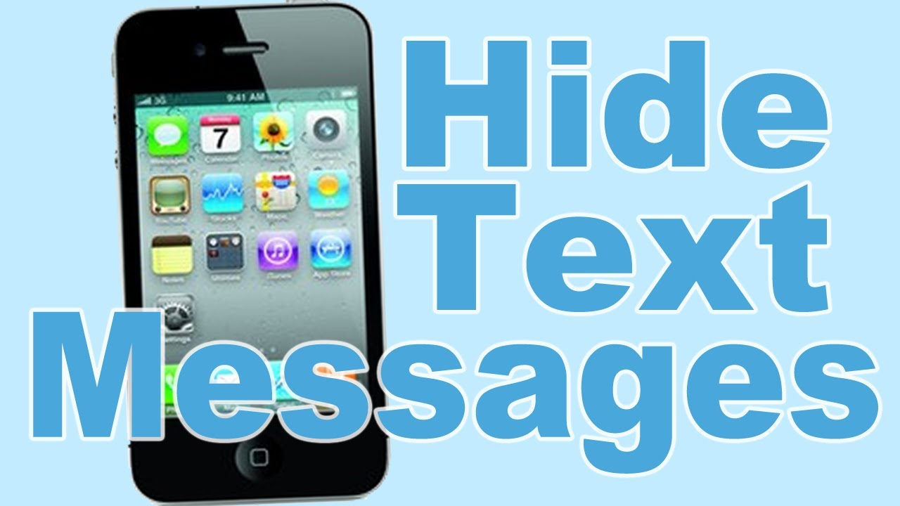 How to hide message on iPhone