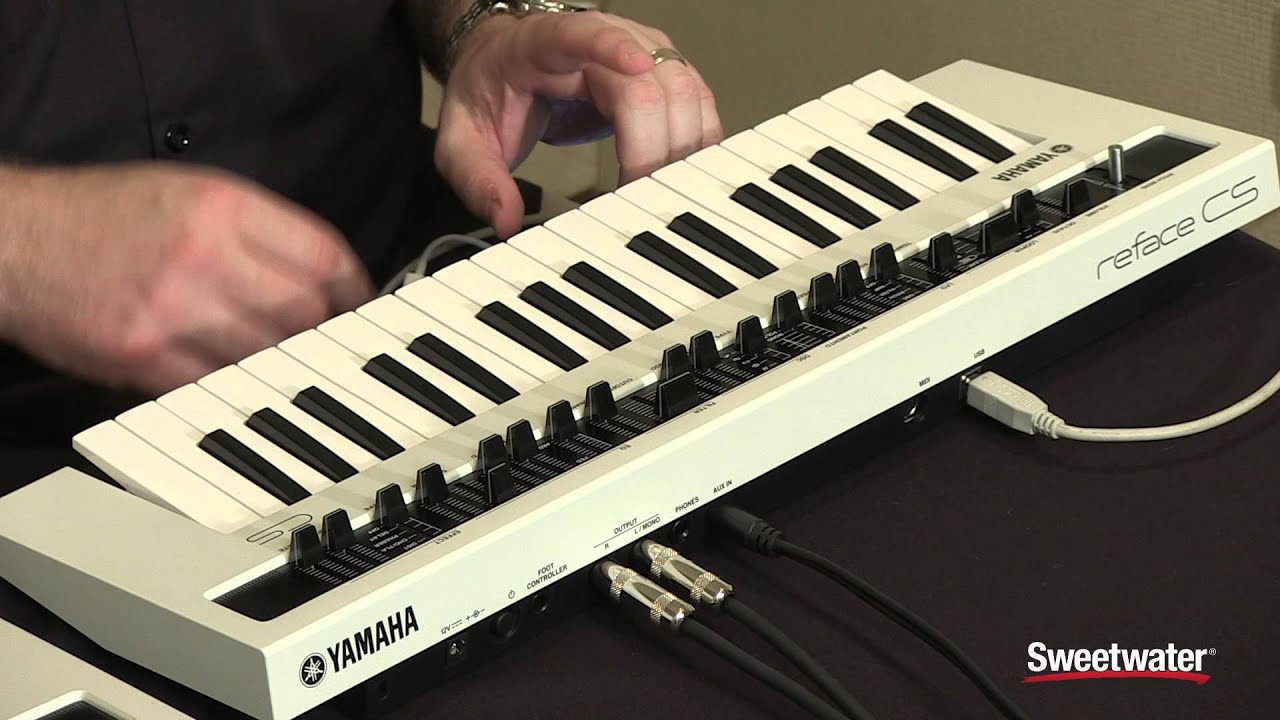 yamaha reface cs synthesizer demo by sweetwater youtube. Black Bedroom Furniture Sets. Home Design Ideas