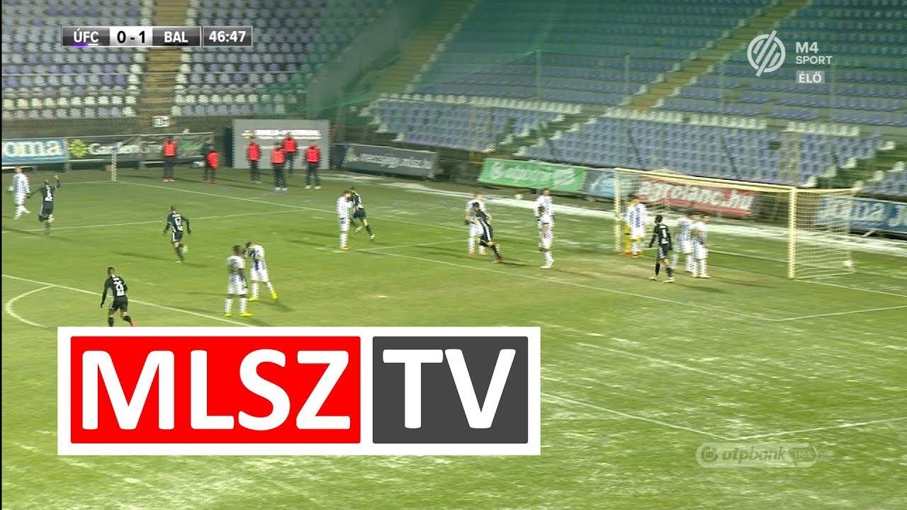 Rácz Ferenc gólja  az Újpest FC - Balmaz Kamilla Gyógyfürdő mérkőzésen