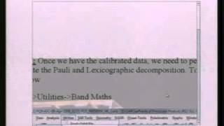 04  03  2014 Practical in  SAR Polarimetry by Shashi Kumar