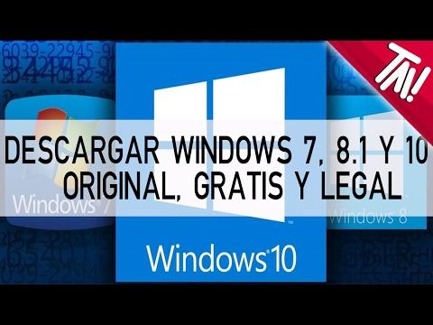 Como descargar windows 7, 8.1, 10 gratis, original y legal