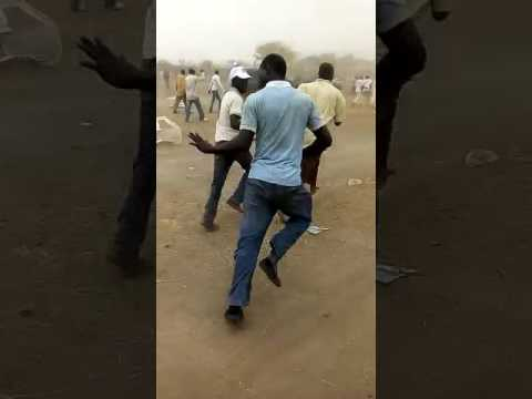 Protesters Chasing After Senator Abu Ibrahim After Disrupting APC Rally In Katsina