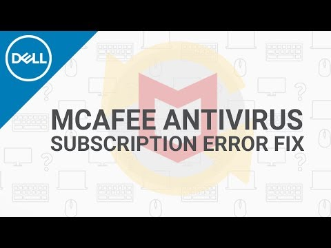 McAfee Subscription Expired Error Fix (Official Dell Tech Support)
